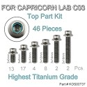 Titanium UFO head Screws for Lab C03 (All top 46pcs)