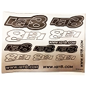 IGT8 Precut Silver Decal Sheet