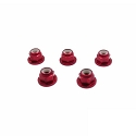 Aluminum Flange Lock Nuts M3 (Red) 5pcs