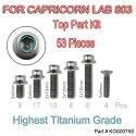 Titanium UFO head Screws for Capricorn 803 (All top 53pcs)