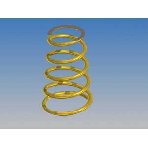 Lateral Springs Soft Gold (2 pcs)