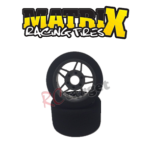 1/8 Front Tyres 30 Shore Carbon 5 Wheel