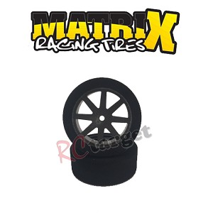 Sedan Front 26mm Tyres 32 Shore Carbon Kyosho Wheel