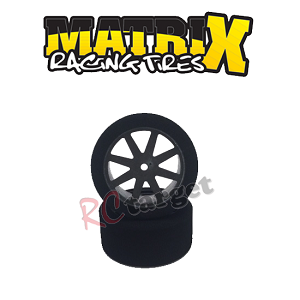 Sedan Rear 30mm Tyres 35 Shore Kyosho Carbon Wheel