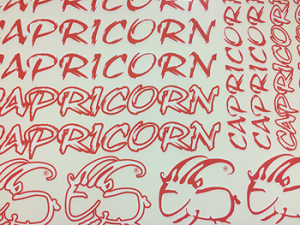 Capricorn  Stickers  (Red)