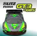 BLITZ 1/8 GT3 GBS Body (1.0mm) with 299mm wing